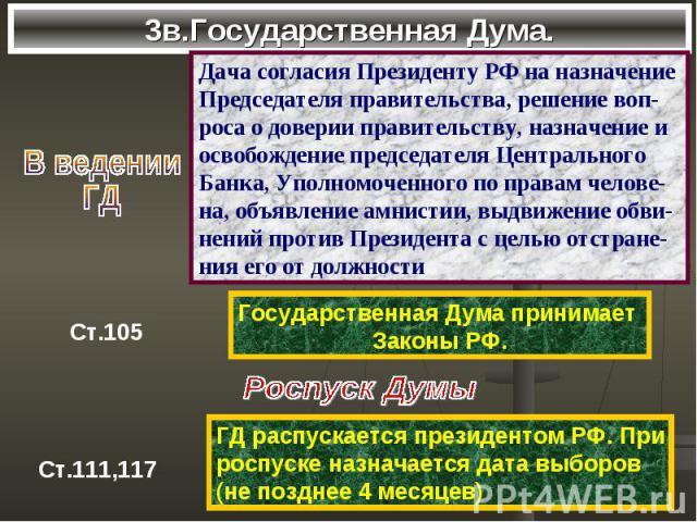3в.Государственная Дума.