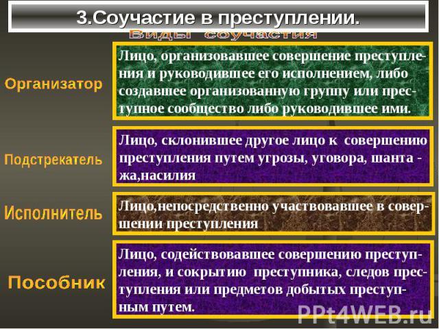 3.Соучастие в преступлении.