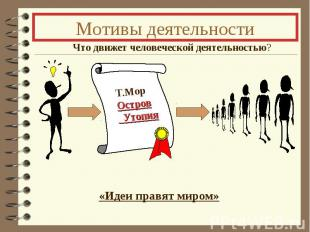 Мотивы деятельности