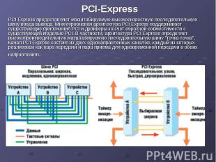 PCI-Express PCI Express предоставляет масштабируемую высокоскоростную последоват