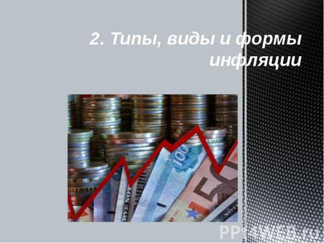 2. Типы, виды и формы инфляции