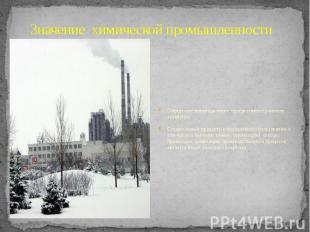 Значение химической промышленности