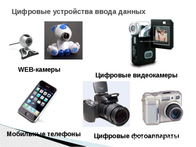 Цифровые устройства ввода данных