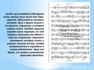Среди произведений Моцарта есть необычный дуэт для двух скрипок. Музыканты должн
