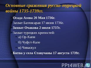 Основные сражения русско-турецкой войны 1735-1739гг. Осада Азова 20 Мая 1736г. З