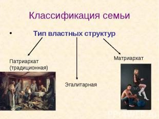 Тип властных структур Тип властных структур