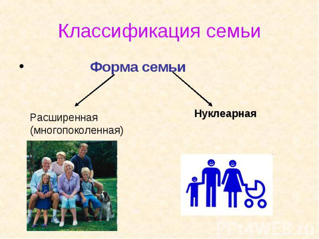 Форма семьи Форма семьи