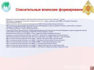 """Спасательные воинские формирования Федеральное казенное учреждение """"Централ"""