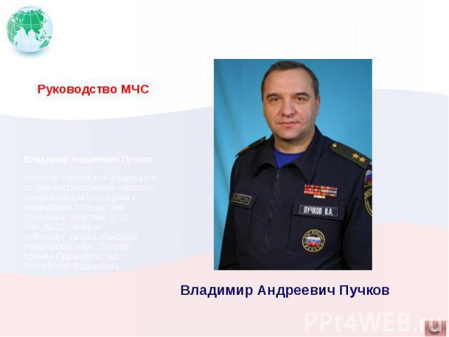 Руководство МЧС Владимир Андреевич Пучков