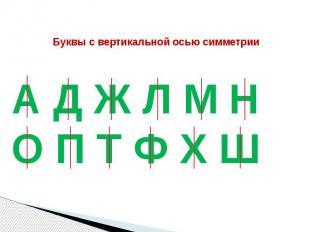 Буквы с вертикальной осью симметрии
