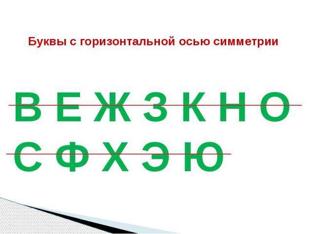 Буквы c горизонтальной осью симметрии
