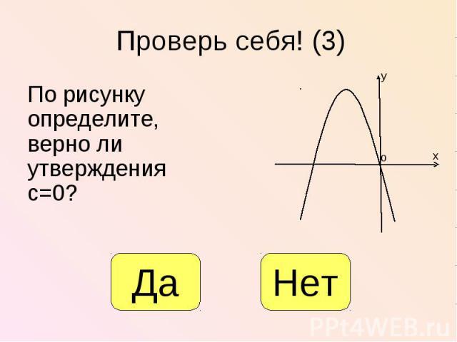 По рисунку определите, верно ли утверждения с=0? По рисунку определите, верно ли утверждения с=0?