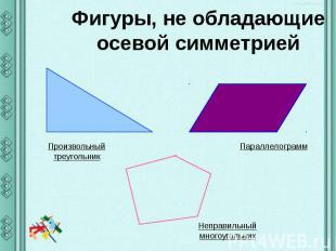 Фигуры, не обладающие осевой симметрией