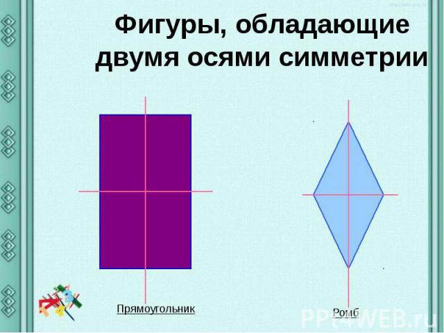 Фигуры, обладающие двумя осями симметрии