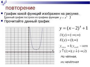 График какой функций изображен на рисунке. (данный график построен из графика фу