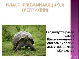 Гаджимустафаева Гаджимустафаева Тамила Шихмагомедовна учитель биологии МБОУ «СОШ