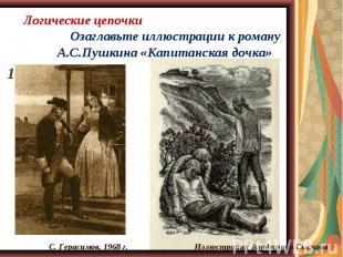 Озаглавьте иллюстрации к роману А.С.Пушкина «Капитанская дочка» Озаглавьте иллюс