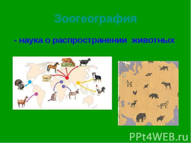- наука о распространении животных - наука о распространении животных