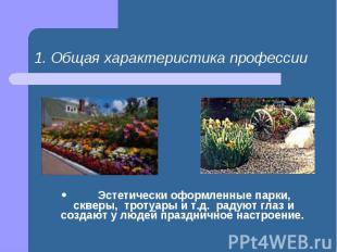 Эстетически оформленные парки,