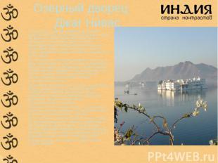 горах вокруг Удайпура издавна добывают мрамор, поэтому мраморные постройки – зде