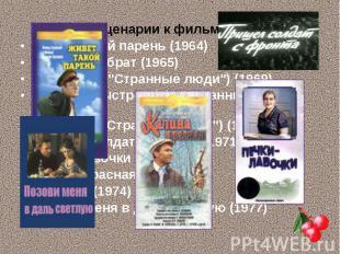 Сценарии к фильмам: Сценарии к фильмам: Живет такой парень (1964) Ваш сын и брат