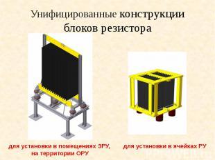 Унифицированные конструкции блоков резистора