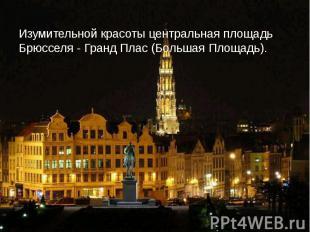 Изумительной красоты центральная площадь Брюсселя - Гранд Плас (Большая Площадь)