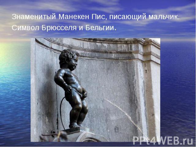 Знаменитый Манекен Пис, писающий мальчик. Символ Брюсселя и Бельгии.