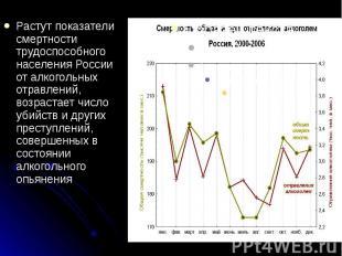 Растут показатели смертности трудоспособного населения России от алкогольных отр