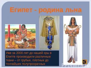 Египет - родина льна