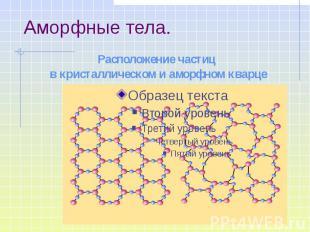 Расположение частиц в кристаллическом и аморфном кварце