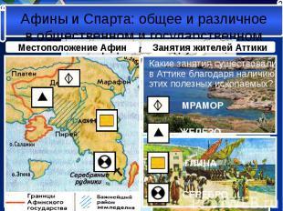 Какие занятия существовали в Аттике благодаря наличию этих полезных ископаемых?