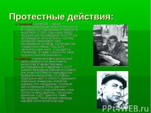 А.Синявский Синявский — автор литературоведческих работ о творчестве М. Горького