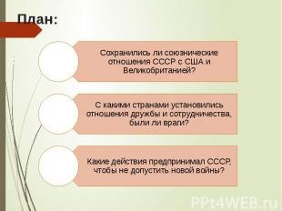 План: