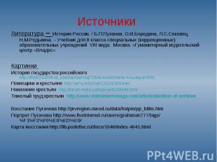 Литература – История России. / Б.П.Пузанов, О.И.Бородина, Л.С.Сековец, Н.М.Редьк