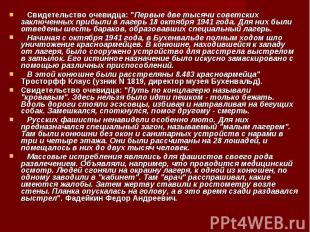 """Свидетельство очевидца: """"Первые две тысячи советских заключенн"""
