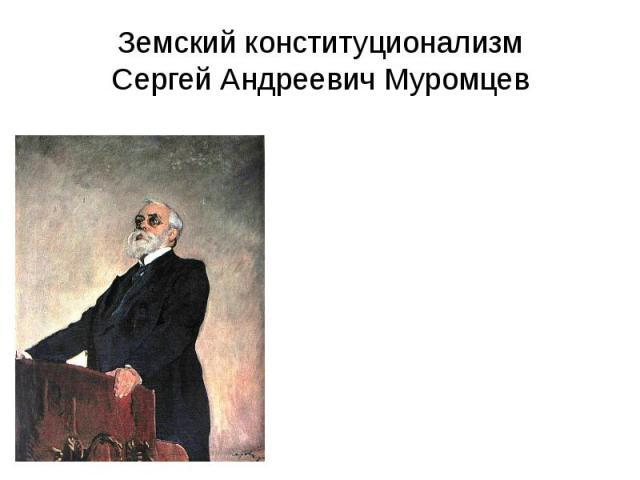 Земский конституционализм Сергей Андреевич Муромцев