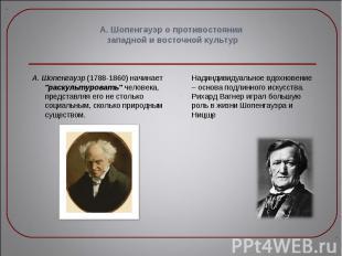 """А. Шопенгауэр (1788-1860) начинает """"раскультуровать"""" человека, предста"""