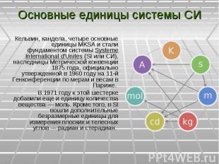 Кельвин, кандела, четыре основные единицы MKSA и стали фундаментом системы