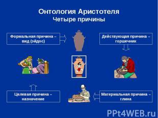 Онтология Аристотеля Четыре причины