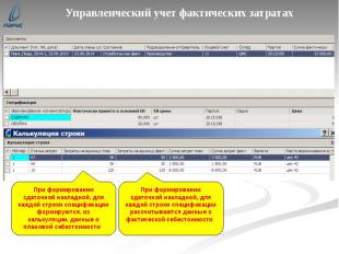 Управленческий учет фактических затратах