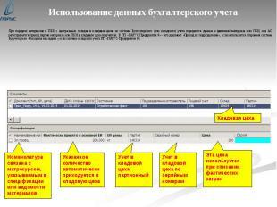 Использование данных бухгалтерского учета При передаче материалов и ПКИ с центра