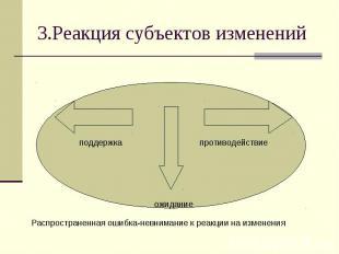 3.Реакция субъектов изменений