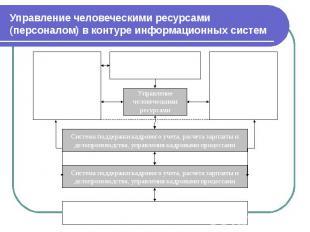 Управление человеческими ресурсами (персоналом) в контуре информационных систем