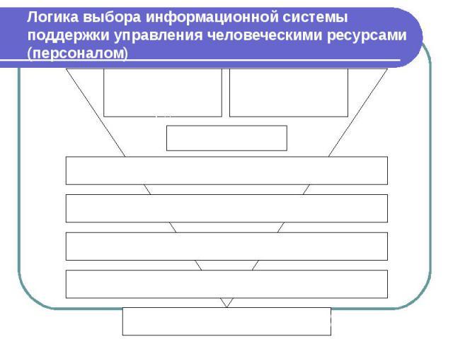 Логика выбора информационной системы поддержки управления человеческими ресурсами (персоналом)