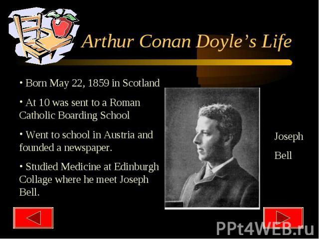 Arthur Conan Doyle's Life