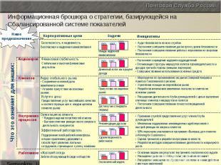 Информационная брошюра о стратегии, базирующейся на Сбалансированной системе пок