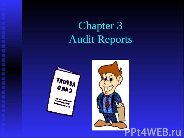 Chapter 3 Audit Reports