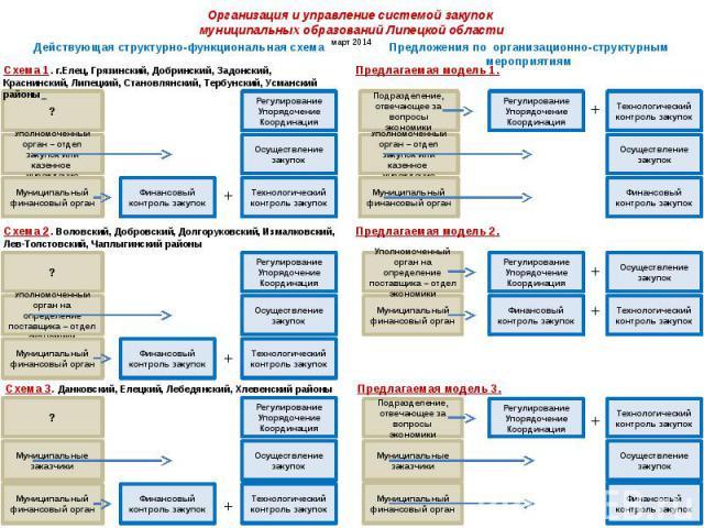 Организация и управление системой закупок муниципальных образований Липецкой области март 2014