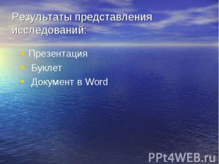 Презентация Презентация Буклет Документ в Word